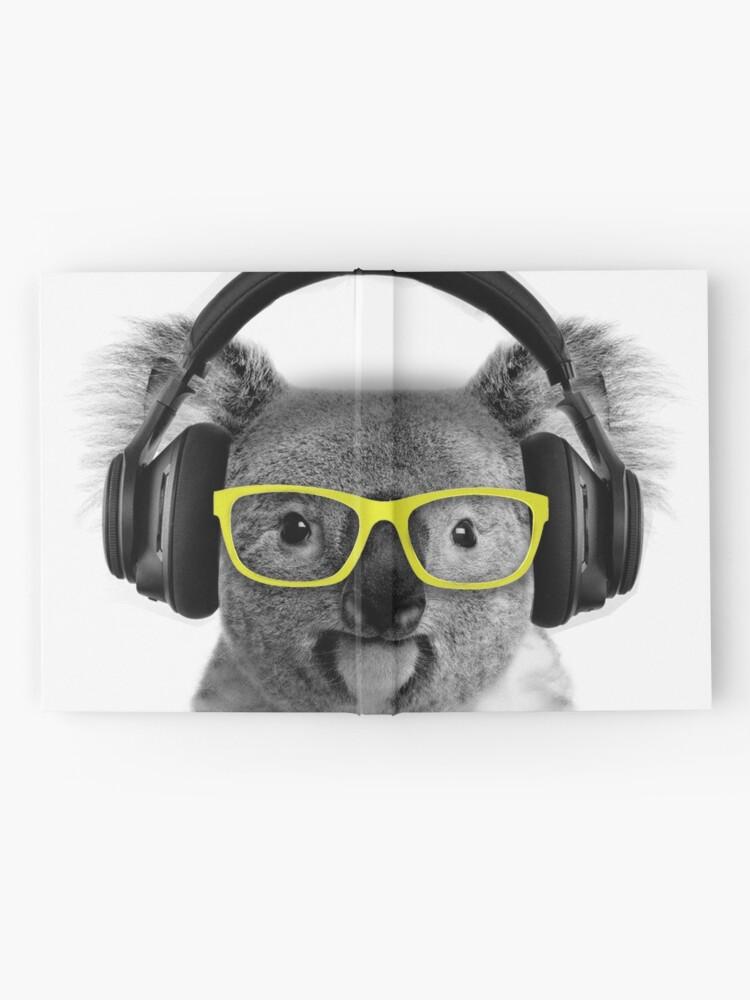 Alternate view of Koala, lovely koala grooving with headphones and glasses Hardcover Journal