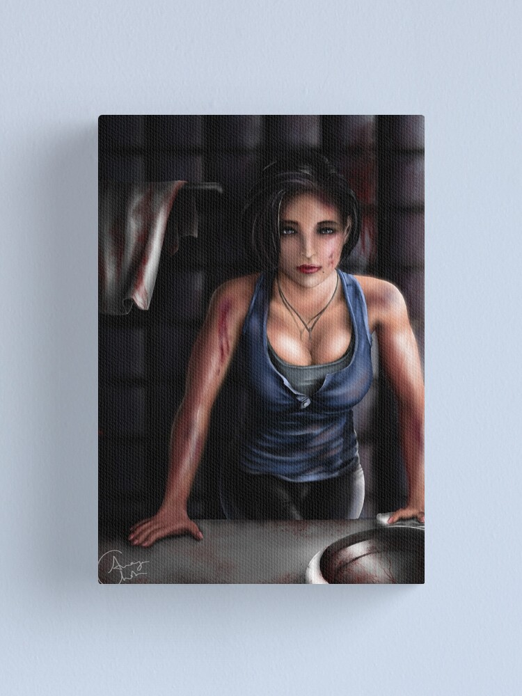 Jill Valentine Resident Evil 3 Remake Canvas Print By Ananyart12 Redbubble