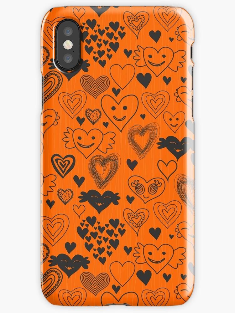 orange hearts by Anastasiia Kucherenko