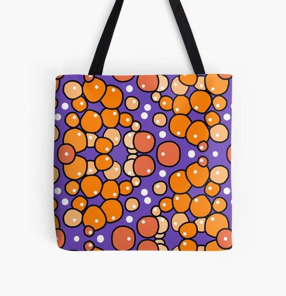 Orange Bubble All Over Print Tote Bag