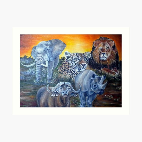 THE BIG 5 OF SOUTH AFRICA Art Print