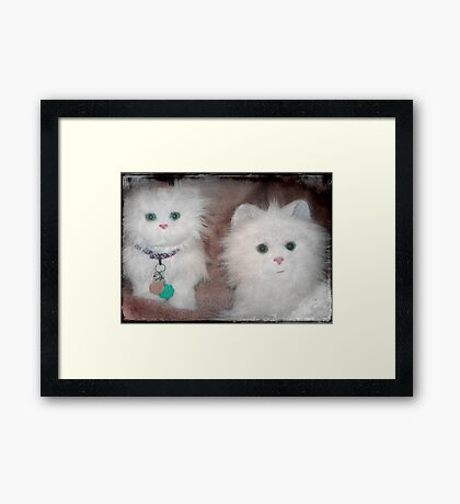Snow Drop and Snow Puff ...aren't we adorable!!! © Framed Print
