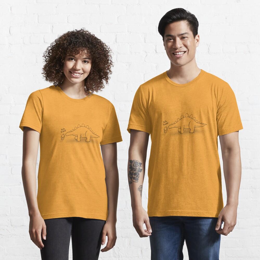 Hello Friend (Dinosaur) Outline - two lof bees Essential T-Shirt