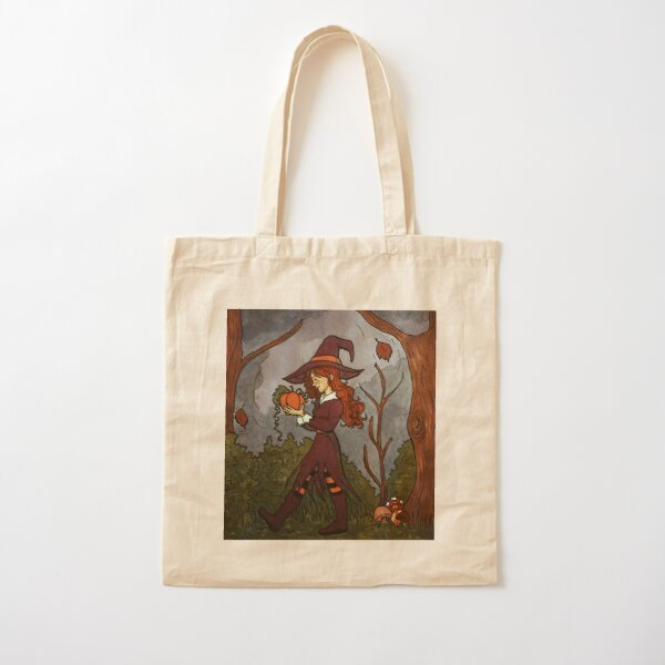 Autumn forest witch  Cotton Tote Bag