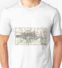 Vintage Map of London England (1806) Unisex T-Shirt