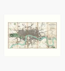 Vintage Map of London England (1806) Art Print