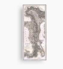 Vintage Map of Italy (1814) Canvas Print