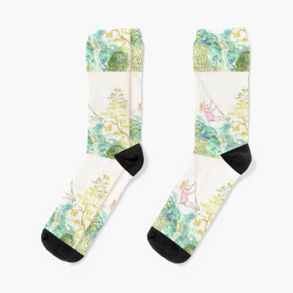 Girl on a swaing Socks