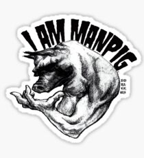 I AM MANPIG Sticker
