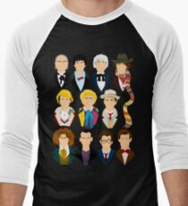 The Eleven Doctors  Men's Baseball ¾ T-Shirt