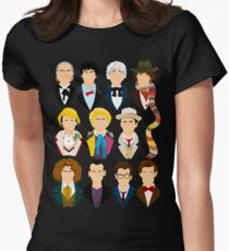 The Eleven Doctors  Women's Fitted T-Shirt