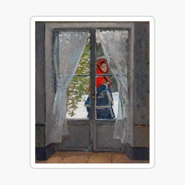 Claude Monet - The Red Cape Sticker