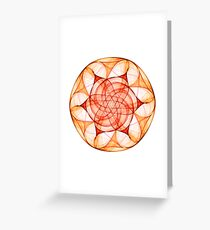 Wheel of Fire Greeting Card