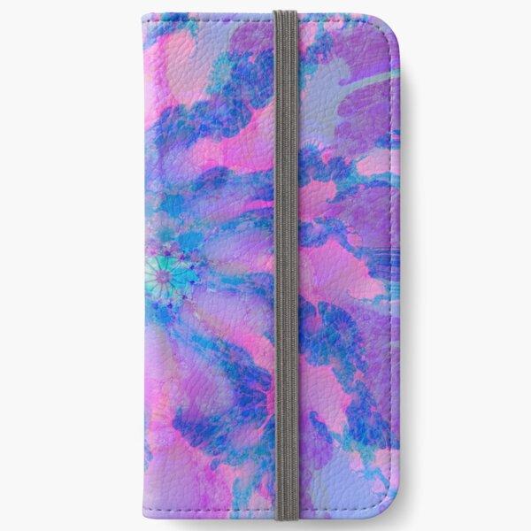 Fractalize storm clouds of flower petals iPhone Wallet