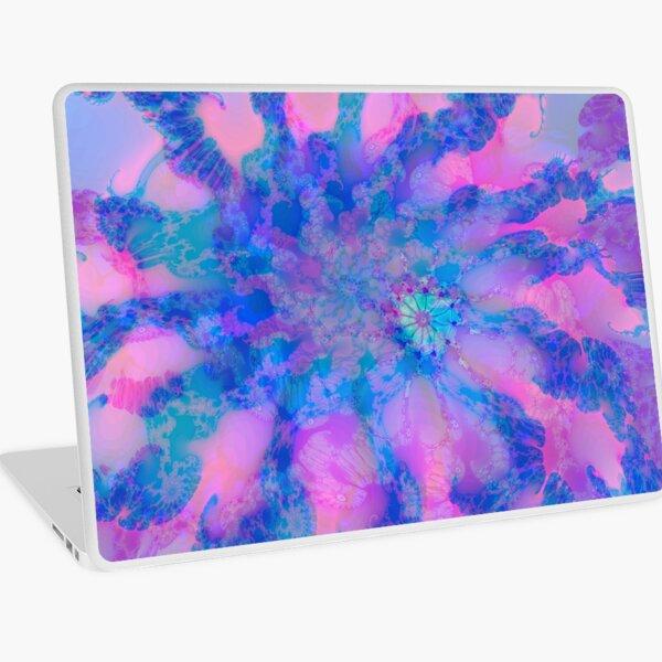 Fractalize storm clouds of flower petals Laptop Skin