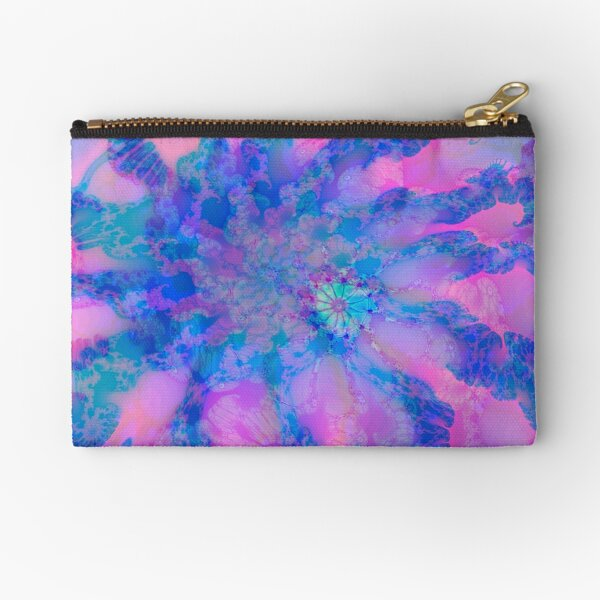 Fractalize storm clouds of flower petals Zipper Pouch