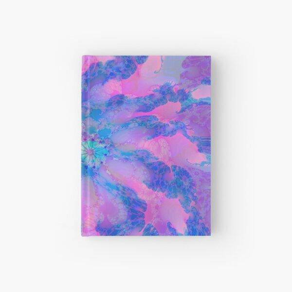 Fractalize storm clouds of flower petals Hardcover Journal