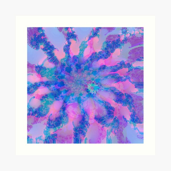 Fractalize storm clouds of flower petals Art Print