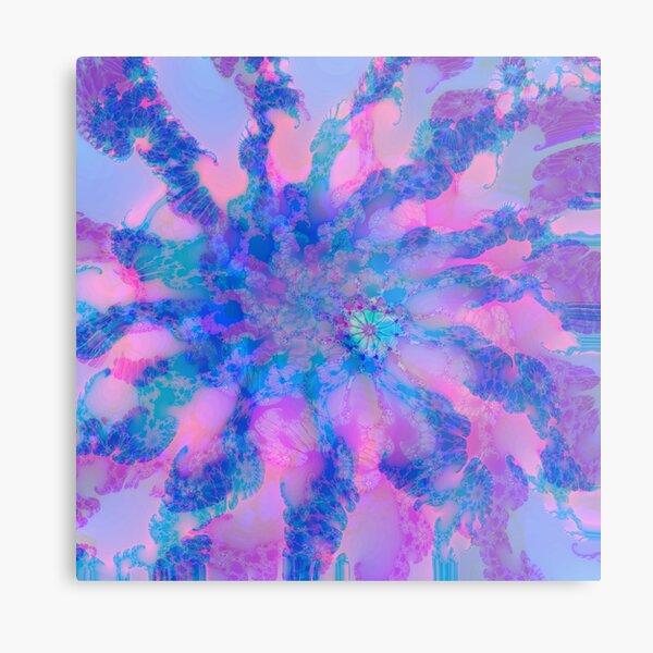 Fractalize storm clouds of flower petals Metal Print
