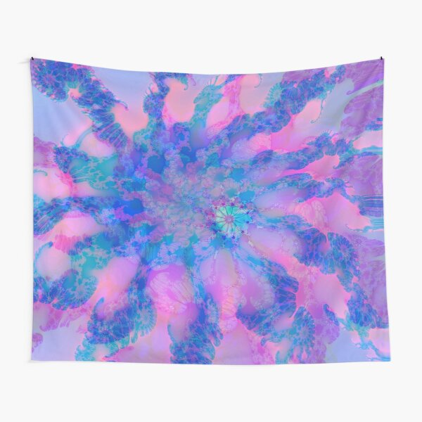 Fractalize storm clouds of flower petals Tapestry