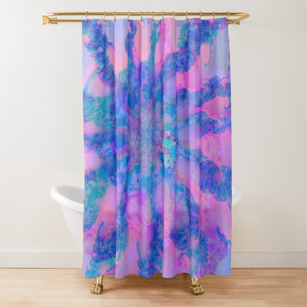 Fractalize storm clouds of flower petals Shower Curtain
