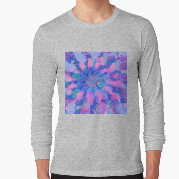 Fractalize storm clouds of flower petals Long Sleeve T-Shirt