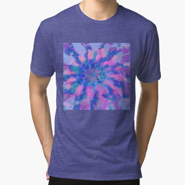 Fractalize storm clouds of flower petals Tri-blend T-Shirt