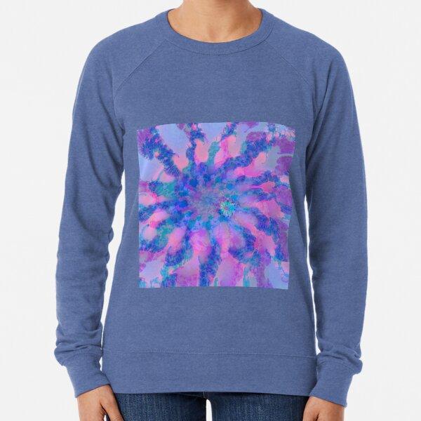 Fractalize storm clouds of flower petals Lightweight Sweatshirt