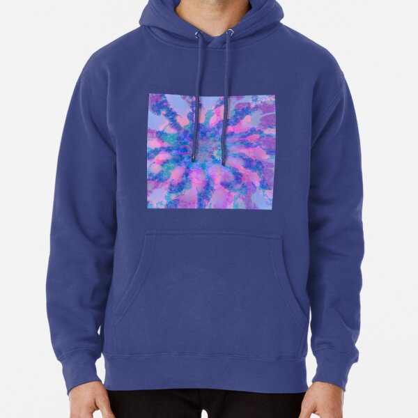Fractalize storm clouds of flower petals Pullover Hoodie