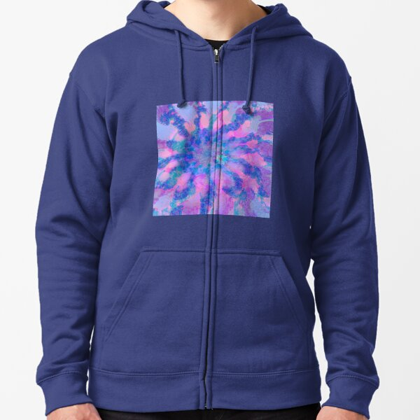 Fractalize storm clouds of flower petals Zipped Hoodie
