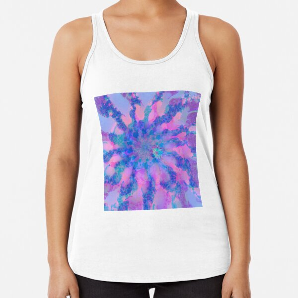 Fractalize storm clouds of flower petals Racerback Tank Top