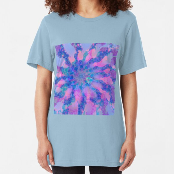 Fractalize storm clouds of flower petals Slim Fit T-Shirt