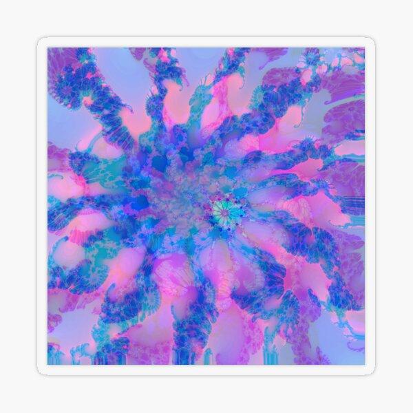 Fractalize storm clouds of flower petals Transparent Sticker