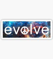 Evolve: Coexist in Peace (deep galaxy version) Sticker