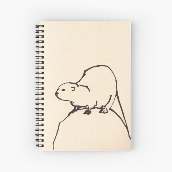 Otter on a rock by Sophie Neville Spiral Notebook