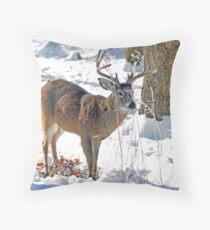 Winter Forage Throw Pillow