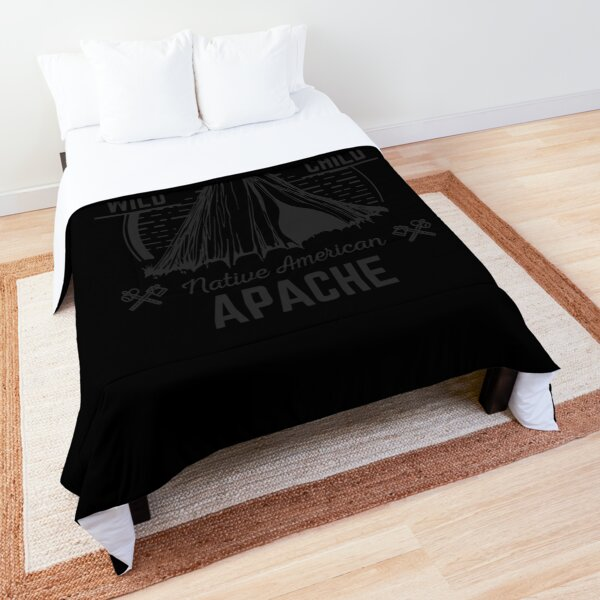 Native American No One Illegal Stolen Land Shirt Immigration Apache Cheif Indian  Comforter