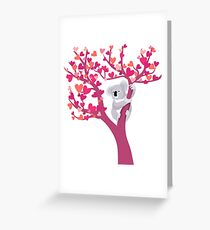 Love Koala in Tree Greeting Card