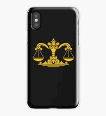 Zodiac Sign Libra Gold iPhone Case/Skin