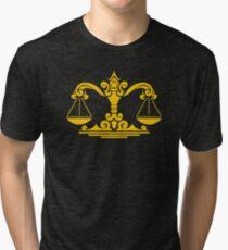 Zodiac Sign Libra Gold Tri-blend T-Shirt