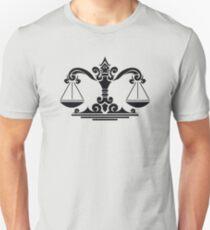 Zodiac Sign Libra Black T-Shirt