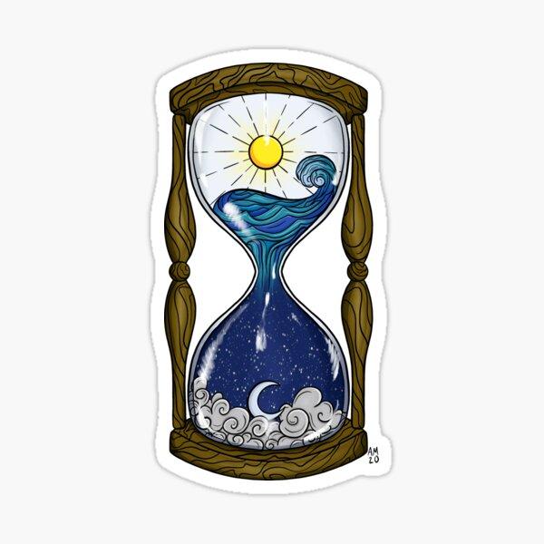 Day and Night Hourglass Sticker