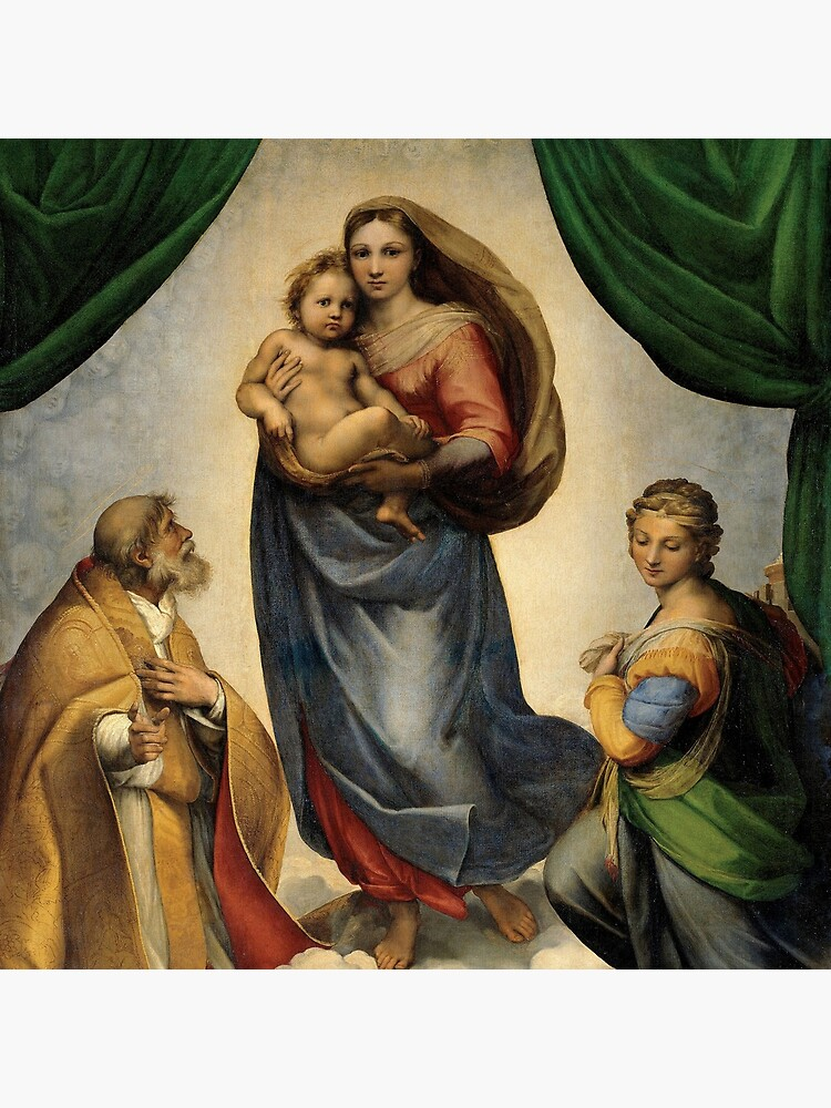 The Sistine Madonna Oil Painting by Raphael by podartist