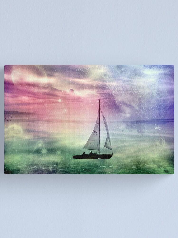 Alternate view of Fantasy Sailing © Canvas Print