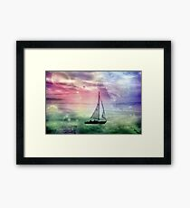 Fantasy Sailing © Framed Print