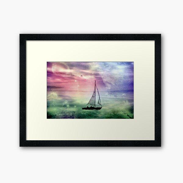 Fantasy Sailing © Framed Art Print