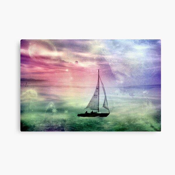 Fantasy Sailing © Metal Print