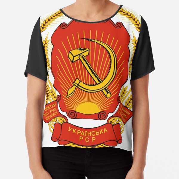 Political Poster, Coat of arms of Russia Chiffon Top