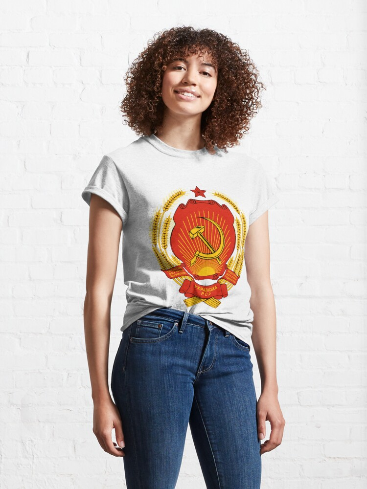 Alternate view of Coat of arms of Russia Classic T-Shirt