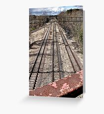 Train tracks under the Bridge of Death Greeting Card